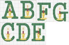 Ponto cruz: Alfabeto