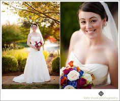 Natural outdoor fall bridal portraits at River Creek Country Club wedding in Leesburg, Virginia