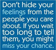 Don't Hide Your Feelings From The People