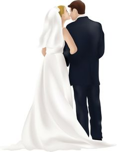 Wedding Clip Art Bride and Groom Have a look at more Wedding pictures at www.myweddingmall.com.