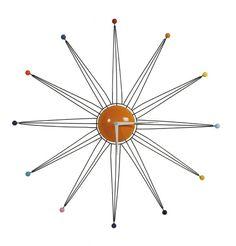 Sunburst Wall Clock from I Love Retro