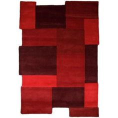 Buy Milan Red Rug - 120 x 180cm at Argos.co.uk, visit Argos.co.uk to shop online for Rugs and mats Pink Abstract, Abstract Shapes, Trendy Colors, Vivid Colors, Wool Area Rugs, Wool Rug, Rugs And Mats, Red Rugs, Mosaic Patterns