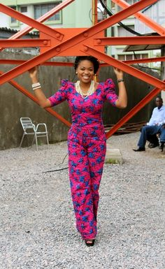 With the ever versatile Ankara fabric in tow, check out 9 jumpsuit inspirations for the weekend. African Print Dresses, African Dresses For Women, African Wear, African Attire, African Women, African Style, African Clothes, African Prints, African Outfits