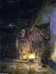 """Fishermen's Return"" Henry Ossawa Tanner - Oil On Canvas - 1926"