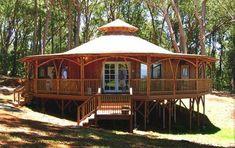 Bamboo House Design Ideas Garden House Wrap Around Porch Poles