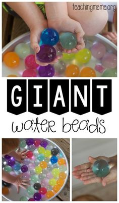 Giant Water Beads - awesome sensory play activity!