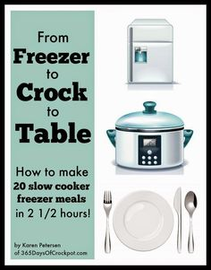 20 freezer crockpot meals all put together in under 3 hours.  Perfect for a busy, working parent!  #crockpotfreezermeals