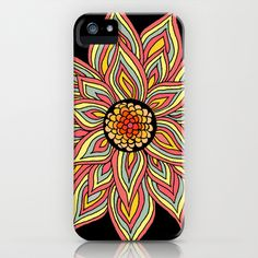 Incandescent Flower  iPhone & iPod Case by Pom Graphic Design  - $35.00 #floral #case #phonecase #iphone #multicolor #vibrant
