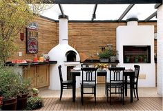 Kitchen Outdoor Design Pergolas 68 Ideas For 2019 Outdoor Oven, Rustic Outdoor, Outdoor Decor, Outdoor Rooms, Outdoor Gardens, Outdoor Living, Deck With Pergola, Backyard Pergola, Outdoor Kitchen Design
