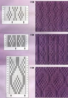 Tina's handicraft : 177 pattern for knittings stitch Knitting Stiches, Knitting Charts, Lace Knitting, Knitting Socks, Knitting Patterns Free, Knit Patterns, Crochet Stitches, Stitch Patterns, Free Pattern