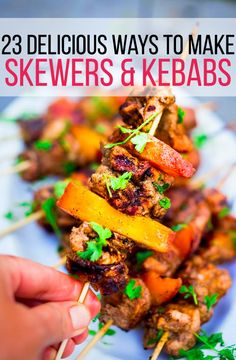 23 Delicious Skewers To Make This Summer | I can't wait to throw these on my grill. Thanks BuzzFeed!