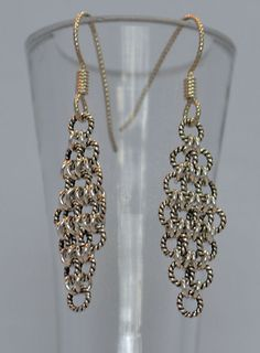 Delicate Chain Maille Earrings