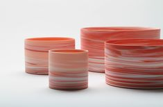 Lee In Hwa - Shadowed Color Red Cylinder, White porcelain, clay, × cm.