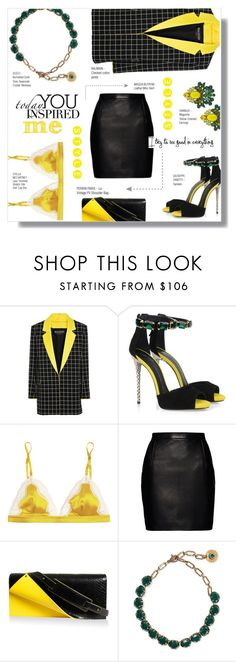 """""""SEE GOOD IN EVERYTHING"""" by larissa-takahassi ❤ liked on Polyvore featuring Balmain, Giuseppe Zanotti, STELLA McCARTNEY, Magda Butrym, Perrin, Gucci and DANNIJO"""