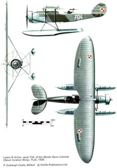 Lublin R-XIII ter/hydro, Polish Navy ordered 10 a/c. Ww2 Aircraft, Military Aircraft, Plane Crafts, Navy Carriers, Air Machine, Sea Plane, Aircraft Painting, Flying Boat, Vintage Airplanes