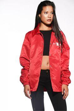 Red Logo Coach Jacket Shop online puresavage.net