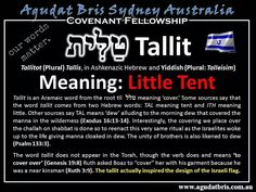 Tallit = little tent, covering
