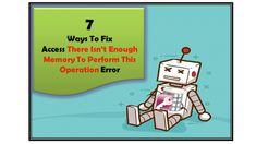 Try easy fixes to solve Microsoft Access There Is Not Enough Memory To Complete This Operation error. Also get detail on when and why you are getting this Not Enough Memory error in Access. Virtual Memory, Windows Registry, Memory Module, Settings App, Enough Is Enough, Microsoft, Memories, Detail, Learning