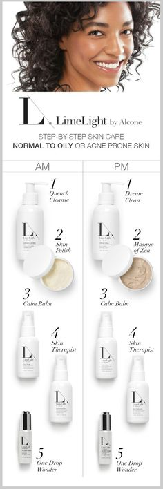 We have products for every skin type. From Dry to Oily and everything in between. http://www.limelightbyalcone.com/beautyinsider @jenellslife