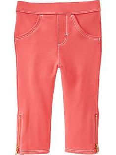 Side-Zip Terry Leggings for Baby