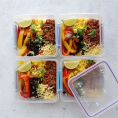 Freezer Meals, Easy Meals, Clean Recipes, Healthy Recipes, Taco Meal, Easy Food To Make, Food Preparation, Lunches, Meal Planning