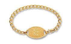 Gold-Filled Curb Chain Bracelet - Standard Emblem   Australia MedicAlert Foundation  #medicalert #medical_ID #medical_bracelet #safety