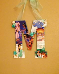 Any letter done in Disney Wooden Letter Princess by SpikaInteriors
