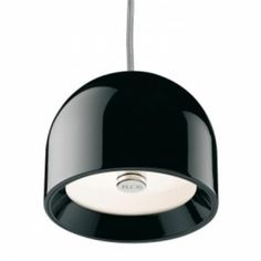 WAN Suspension by FLOS. Suspension lamp providing direct lighting. Aluminium body with low glare shield, available in chrome, gloss white, enamelled green and gloss black finishes.