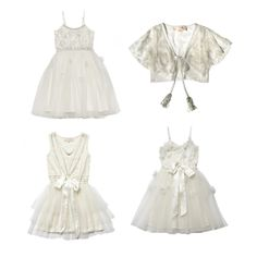 Flowergirl Dresses / Ethereal Whites / Tutu du Monde