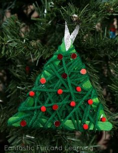 These ornaments are very easy and inexpensive to make. Kids and adults of all ages can have fun making them together. They are also quick and easy enough to make during class parties, holiday gatherings, and community events.