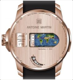 Know the latitude, longitude and other such things with this watch.
