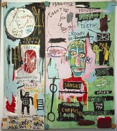 "nycartscene: "" continues thru Apr JEAN-MICHEL BASQUIAT Gagosian Gallery, 555 St., NYC ""It is not true that only the good die young, but Jean-Michel Basquiat did at 27 in He was not only. Keith Haring, Jean Michel Basquiat Art, Jm Basquiat, Basquiat Artist, Basquiat Tattoo, Basquiat Prints, Basquiat Paintings, Art Paintings, Painting Art"