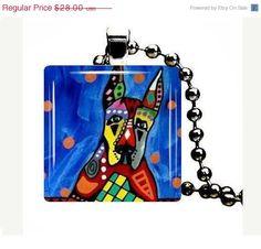 Handmade Jewelry Great Dane Dog Jewelry by HeatherGallerArt, $28.00