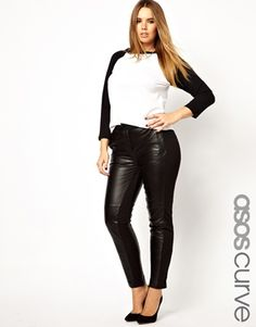 Nothing says Rocker more than leather pants. I love that these by ASOS CURVE have fabric side panels for a more relaxed fit. plus size leather pants