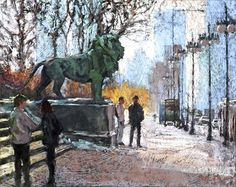 A Day At The Art Institute by Nancie King Mertz Pastel ~ 26 x 20