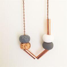 Geo Copper  - Clay Pod Copper Necklace
