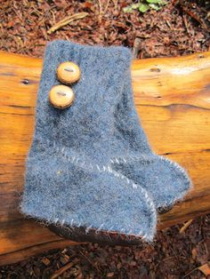cute lil felted sweater slippers