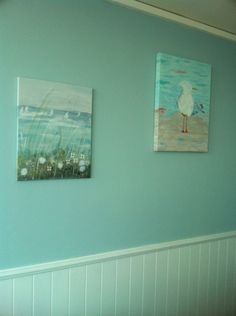 My paintings- I actually painted my coastal paintings and was surprised how well they turned out! Proud of myself! Very relaxing!