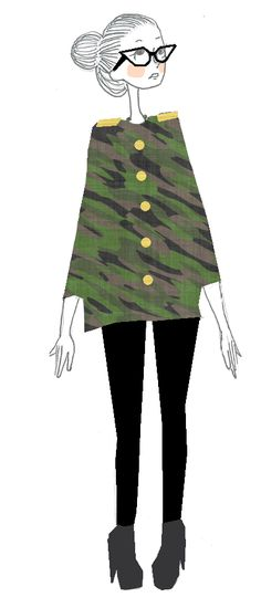 Army outfit !     http://rosetendance.wordpress.com