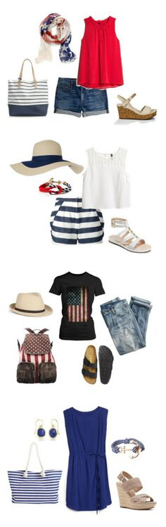 So cute and easy ~ except I spend this day at the pool =) 4th of July Style #fashion #style #4thofJuly