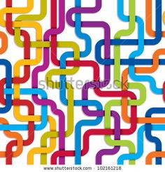 Color lines seamless pattern, tangled stripes vector background for conceptual design projects. by Goldenarts, via Shutterstock