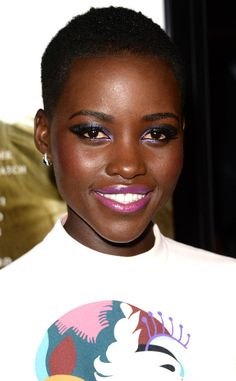 Lupita Nyong'o - Few people can pull off makeup this colorful. Yet the 12 Years a Slave actress wears it so well we're itching to give it a try.