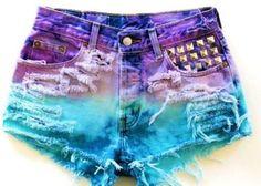 shorts colorido feminino customizados