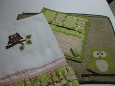 owl towels for kitchen
