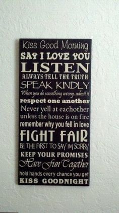 Would so want this hanging up in the master bedroom when we buy our own house...would be such a great daily reminder