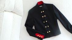 #officer #jacket #veste #officier #navy #marine #red #details #gold #crush #mode #blog #blonde #storm #blondstorm #blogmode #french #touch #style #look #outfit #idea #retro #vintage #glamour #preppy
