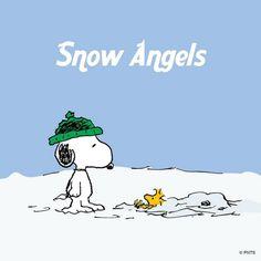 Snow angels.雪地裡的天使
