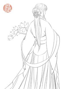 """# New book starting # """"painted cartoon - ancient wind character line drawing techniques"""" . Cute Coloring Pages, Coloring Books, Adult Coloring, Ink Illustrations, Illustration Art, Drawing Sketches, Art Drawings, Anime Lineart, Japanese Drawings"""