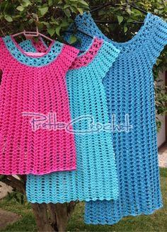 Pretta Crochet: Saída de Praia em Crochet Infantil e Adulto