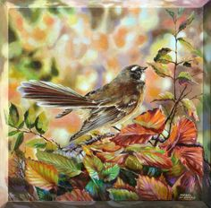 Artfind.co.nz - Artwork - Fantail - Piwakawaka in the Forest by Rafael De Armas Nz Art, Sculpture Art, Birds, Artwork, Painting, Animals, Work Of Art, Animales, Auguste Rodin Artwork